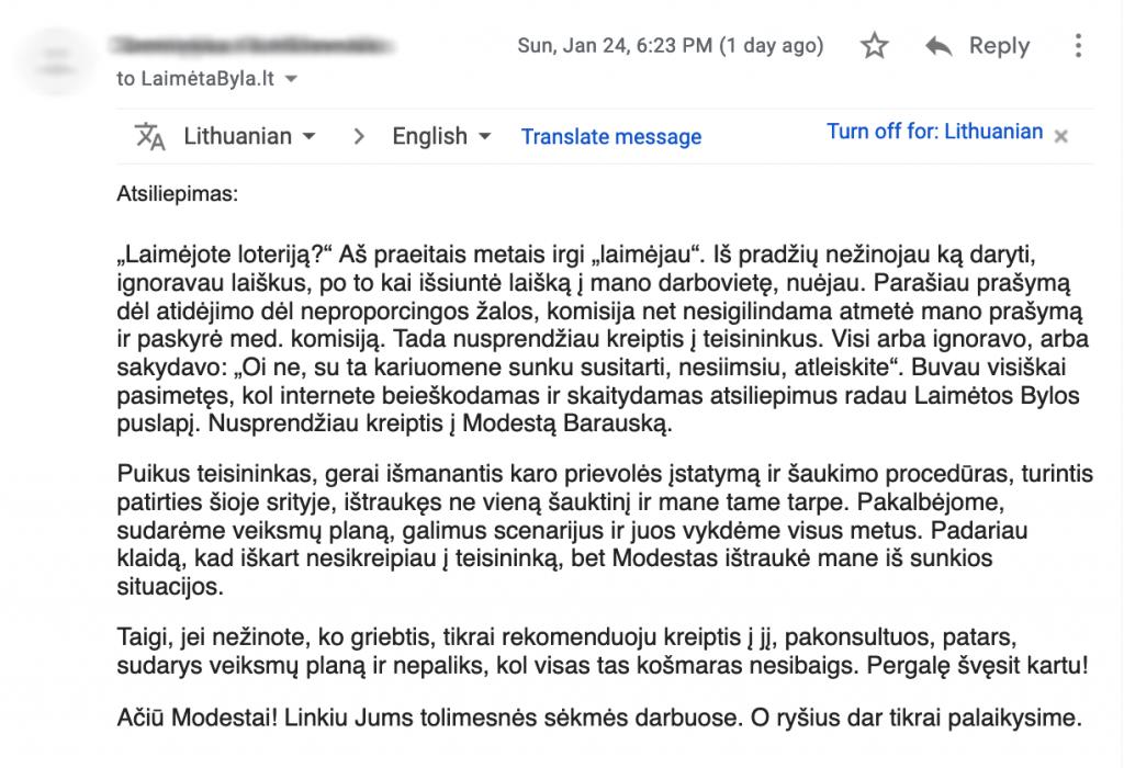 Atsiliepimas 4 - Email2